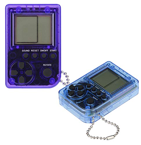 HHmei Mini Retro Retro Tetris Game Console Students Pendant Recreational Machines - 2PCmini Handheld Game Console Transparent Version (03H) (Mini Bluetooth Pepper Speaker)