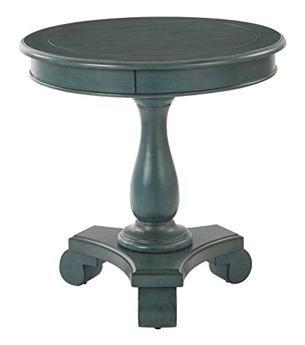 INSPIRED by Bassett Avalon Hand Painted Round Accent Table, Antique Caribbean (Furniture Office Painted)