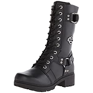 Harley-Davidson Women's Eda Motorcycle Boot, Black, 8.5 M US