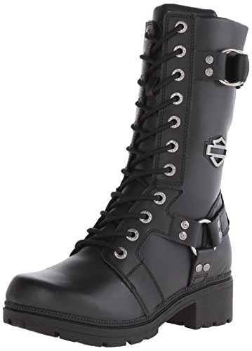 Harley-Davidson Women's Eda Motorcycle Boot, Black, 9 M US