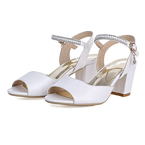 B Sandals 8 Girls Material White 1TO9 M Solid US Soft Fashion 8cYfUnq