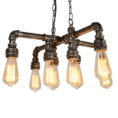 Electro_BP; Vintage Style Metal Art Chandelier Max 480W With 8 Lights Painted Finish
