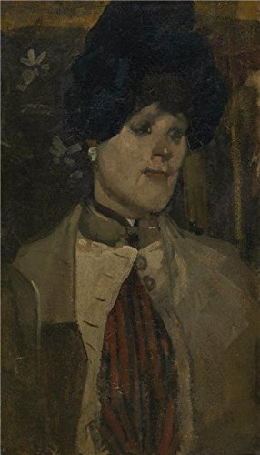 Resin Oil Stone Vase (Perfect Effect Canvas ,the Beautiful Art Decorative Prints On Canvas Of Oil Painting 'George Hendrik Breitner - Portrait Of A Chanteuse', 8x14 Inch / 20x36 Cm Is Best For Study Artwork And Home Decor And Gifts)