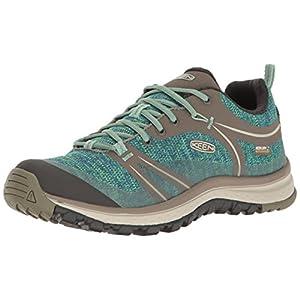 KEEN Women's Terradora Waterproof Hiking Shoe, Bungee Cord/Malachite, 9.5 M US