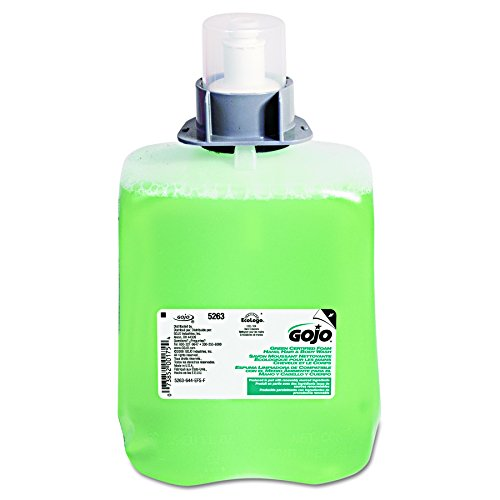 GOJO 526302 Green Certified Foam Hair & Body Wash, Cucumber Melon, 2000mL Refill (Case of (Spa Bath Body Hair Shampoo)