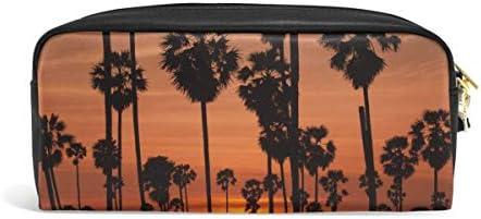 Twilight Sunset Plam Tree Papelería Bolsas Porta lápices Bolígrafo Bolso Organizador cosmético: Amazon.es: Equipaje