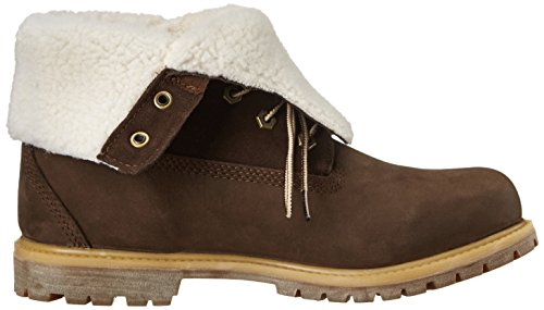 Militares Fold Authentics Botas Brown WP Timberland para Mujer Down Fleece Teddy wAU0qxg1F