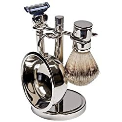 Harry D Koenig & Co 4 Piece Shave Set In Silver for Men