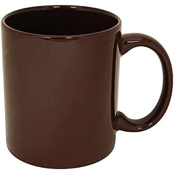 Amazon Com Funny Guy Mugs Plain Brown Ceramic Coffee Mug