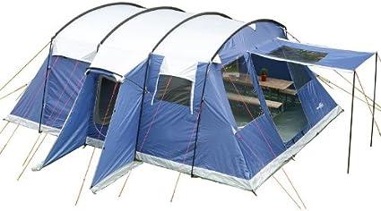 skandika Milano - 6 personas - tienda campaña familiar- túnel - mosquiteras (azul): Amazon.es: Deportes y aire libre