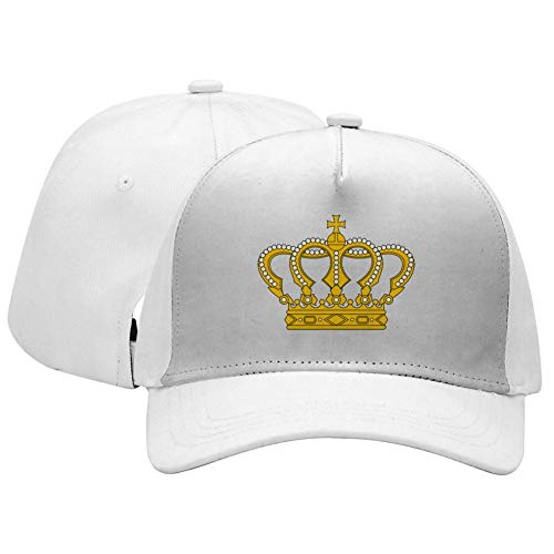 Campus Adjustable Hat Gold - Adult Unisex Gold Crown Adjustable Sandwich Baseball Caps for Men's, Women's