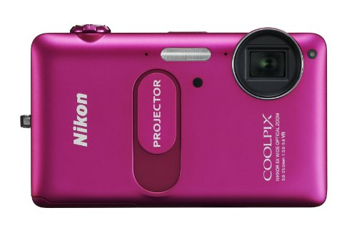 Nikon COOLPIX S1200pj 14.1 MP Digital Camera with Built-In 20 Lumens iPhone/iPad/iPod Compatible Projector by Nikon