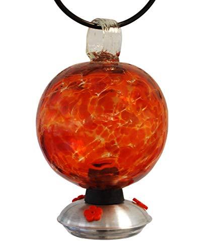 Dew Drop Hummingbird Feeder, Cinnabar, Red/Orange, 25 oz.