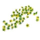 SM SunniMix 50 Pieces Orchid Flower Model, Sand Table Building Kits Miniature - Yellow