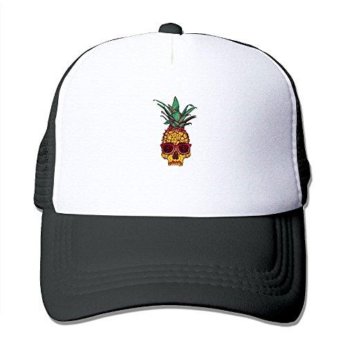 YSDISJE Pineapple Skull Sunglasses Bone Mesh Hat Adult Baseball Cap For Boys Girls Personalized Adjustable Snapback Hip Hop Cool Trucker Plain Flat Hats For Dance,Neo-Jazz,Street - Sunglasses Bill Dance