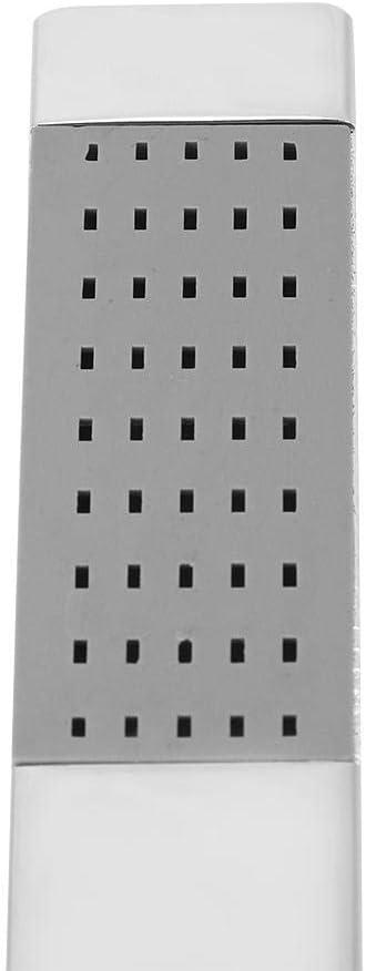 alcachofa de Mano de Lujo Cromado de Acero Inoxidable con Forma Cuadrada G 1//2 Hilo Fditt Alcachofa de Ducha de Mano de lat/ón de Alta presi/ón