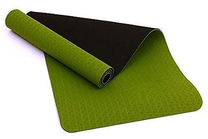 Fitem - Esterilla de gimnasia y yoga de TPE - Eco Natura - Reversible, antideslizante y respetuosa con el medio ambiente - 183 x 61 x 0,6 cm: Amazon.es: ...