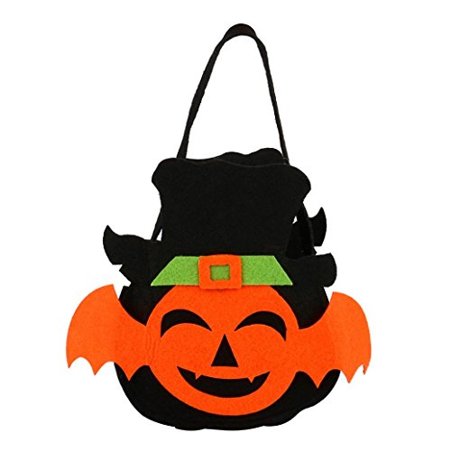 XUANOU Cute Halloween Bat Shape Type Candy Bag Gift Bag Pumpkin Bag