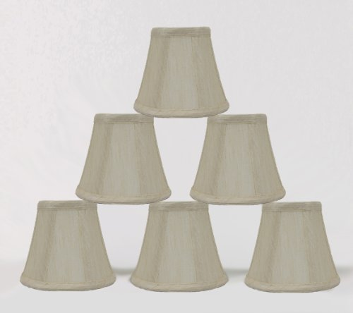Urbanest 1100852c Set of 6, Cream Chandelier Mini Lamp Shade