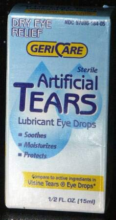 Gericare Artificial Tears Lubricant Eye Drops, 15 mL Per Bottle (9 Pack)