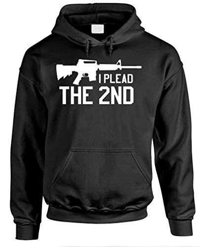 I PLEAD THE 2ND - gun rights amendment Pullover Hoodie, XL, Black