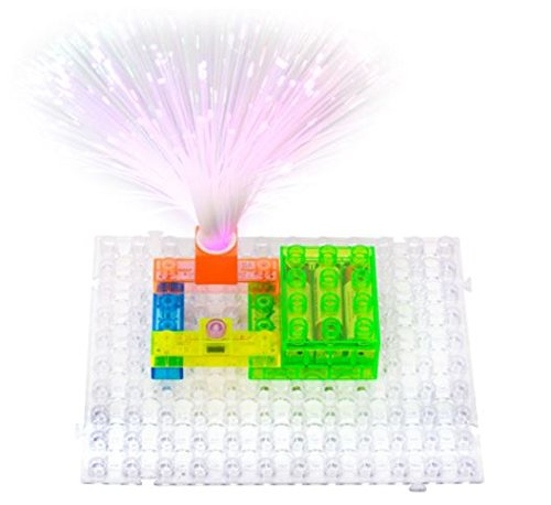 Circuit Kit With Lighted Bricks Magnets 59 Different Projects in 1, Best STEM Educational Gift for Boys and Girls Ages 6 - 14, Science Experiment Kit w Electronic Blocks, Circuits - Discounts And Responders First Military
