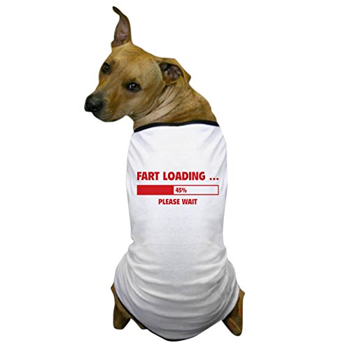 CafePress - Fart Loading Dog T-Shirt - Dog T-Shirt, Pet Clothing, Funny Dog Costume (Bombs 100 Fart)