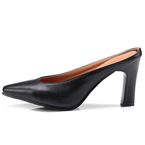 Closed Scarpe Mules Mode Zanpa Black Donna Toe OqP0wnxIxH