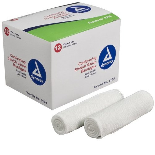 Bandage Case Pack - Dynarex 3104 Stretch Gauze Bandage Roll N/S 4
