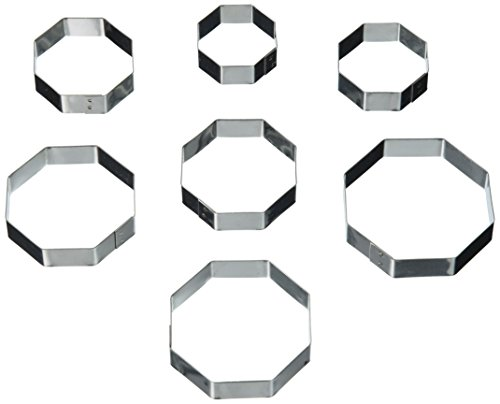 Oasis Supply 395676 Gum Paste Fondant 7-Piece Octagon Cutter Set, 1-3/8-Inch to 2-3/8-Inch