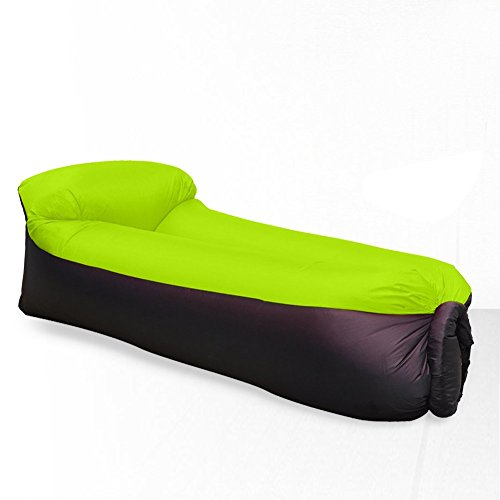 Besplore Inflatable Lounger Air Sofa Chair,with portable carry bag,Black - Sunglasses V Mac