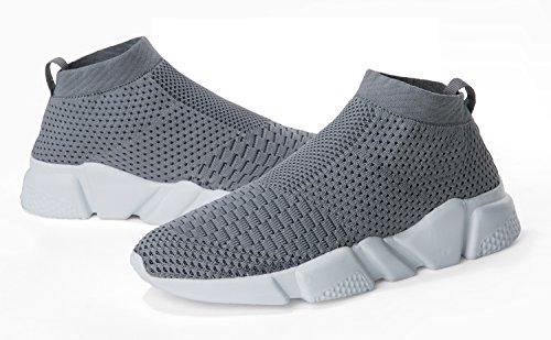 Laufende leichte Breathable beiläufige Sportschuhe der Frauen arbeiten Art- und Weiseturnschuh-wandernde Schuhe um Grau.