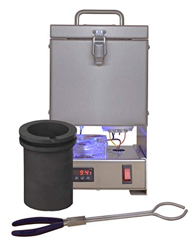 Tabletop QuikMelt 120 oz PRO-120 Melting Furnace - Stainless Steel Kiln Jewelry Making Metal Melting Casting Enameling Glass Fusing Precious Metal Clay ()