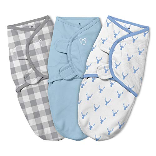 SwaddleMe Original 3 Piece Swaddle, Oh Deer, Small (0-3 Months, 7-14 lbs) ()
