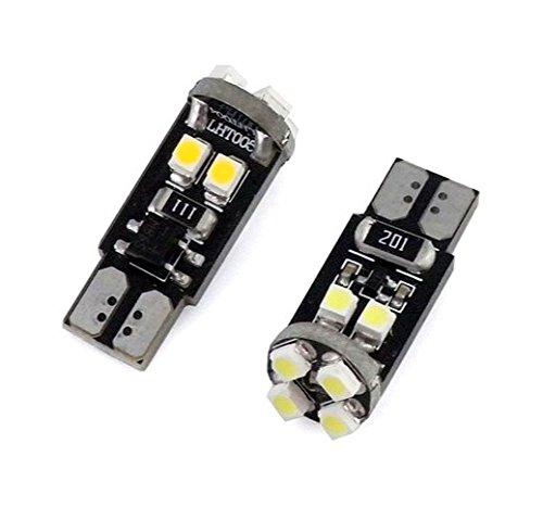 2x LAMPE MIT 8-chip 3528 8000K 12V XENON WEISS WHITE CANBUS 2 St/ü ck T-zehn -Sockel W-f/ü nf-W Lampen f/ü r Innen- Kennzeichen- Einstiegs- Kofferraum- Fussraumbeleuchtung Standlicht Positionslicht Jurmann-Trade®