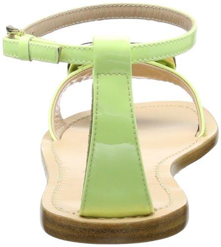 Sebastian SEBASTIAN Caprisandale flach, Gelb FLUGIA, Größe 36 S6100FLUGIA36 - Sandalias de cuero para mujer, color amarillo, talla 36 Amarillo (Gelb (Gelb FLUGIA))
