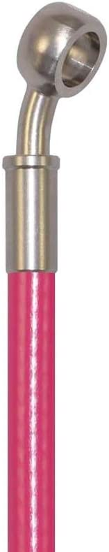 Pro Braking PBC2121-PNK-SIL Braided Clutch Line Pink Hose /& Stainless Banjos