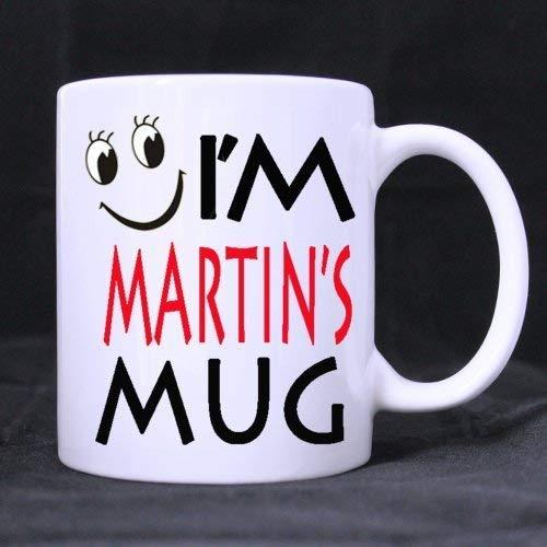 Zarelake Anthropomorphic Cup Funny Cute 'I'm Martin's Mug' (Twin Side) Custom White Ceramic Mug Coffee Cup (11 Ounce)