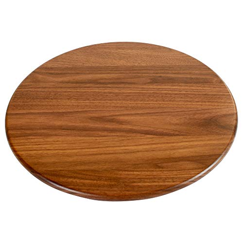 Virginia Boys Kitchens Lazy Susan – 13.5 Inch Round Wooden Turntable for Dining Table, Kitchen Countertop, Pantry or Decorative Serving Centerpiece Display