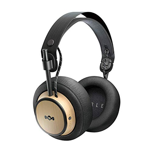 House of Marley Exodus Over-Ear Wireless Headphone 30-Hour Battery Life 50mm Hi Definition Drivers Premium Comfort Memory Foam Ear Cushions Onboard Mic & Remote Functionality Quick Charge