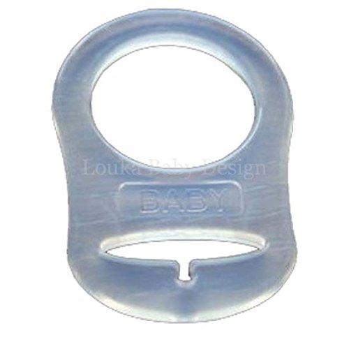 tissu attache sucette avec clip b/éb/é gar/çon ou fille Louka Attache t/étine fait /à la main !