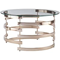 Southern Enterprises Belmar Cocktail Table, Champagne Finish
