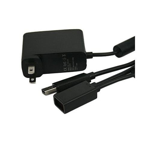 USB AC Adapter Power Supply Cable Cord-For Xbox 360 Kinect Sensor Model (Power Adapter Cable Model)