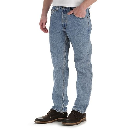 LEE Men's Regular Fit Straight Leg Jean, Light Stone, 28W x 30L