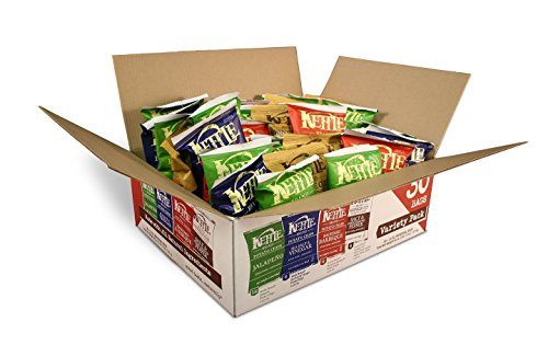 - Kettle Brand Potato Chips Variety Pack, Sea Salt & Vinegar, Krinkle Salt & Pepper, Backyard BBQ and Jalapeno, 30 Count