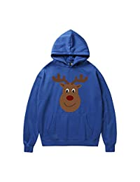 Couple Sweatshirt Men Shirt Christmas Cat Printing Sweatshirt Blouse Funny Tops