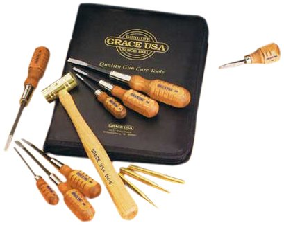 Grace USA - Gun Care Tool Set - GCT 17 -Gunsmithing  - Gun Care Kit - 17 piece - Gunsmith Tools & Accessories by Grace USA