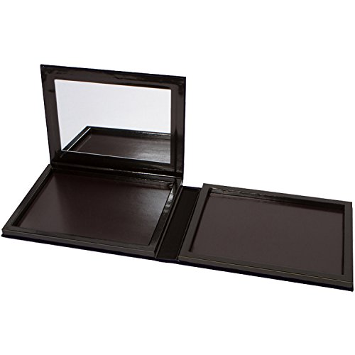 Plush Velvet Extra Large Empty Magnetic Makeup Palette with Mirror Holds 70 Standard Magnetic Eyeshadows. Depot your Highlighters, Blushes, Powders and more