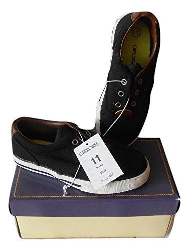 Cherokee Toddler Boys Black Canvas Tennis Shoe Size11