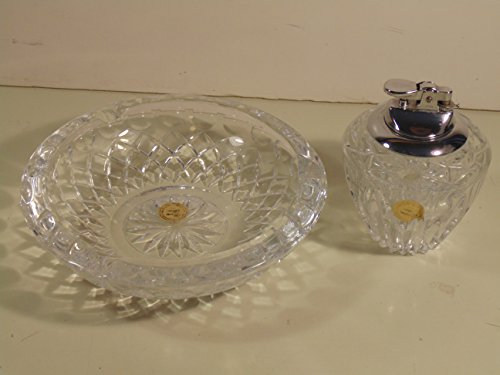 (Vintage Princess House Lead Crystal Lighter and Ashtray)